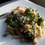 Roasted Broccoli and Almond Penne