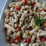 Penne with Chickpeas, Feta & Tomatoes