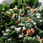 Spinach Salad with Gorgonzola, Walnuts & Grapes