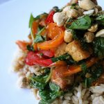 Spicy Thai Tofu and Peppers with Peanuts