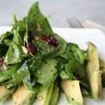 Spinach Salad with Dried Cranberries and Avocado