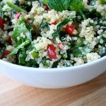 Warm Quinoa Salad with Kale and Arugula