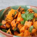 Cilantro Lime Sweet Potatoes with Honey
