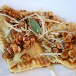 Butternut Squash, Sage and Goat Cheese Ravioli with Hazelnut Brown-Butter Sauce (Gluten-Free)