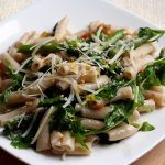 Spicy Spring Pasta with Roasted Asparagus and Baby Arugula (Gluten-Free)
