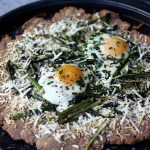 Gluten-Free Whole Grain Spring Pizza with Asparagus, Parmesan and Eggs
