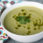 Chilled Avocado & Corn Soup with Cilantro Oil