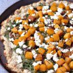 Butternut Squash, Arugula and Goat Cheese Pizza