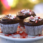 Double Fudge Candy Cane Cupcakes – Gluten-free, Dairy-free