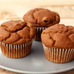 Pumpkin Gingerbread Muffins with Dried Cranberries {Gluten-free, Vegan}