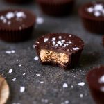 Dark Chocolate, Almond Butter Mini-Cups with Sea Salt – Gluten-free, Vegan + Refined Sugar-free