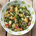 Sprouted Quinoa Salad with Mango, Black Beans and Avocado – Gluten-free + Vegan