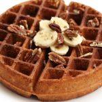 Banana Pecan Waffles – Gluten-free, Vegan + Refined Sugar-free