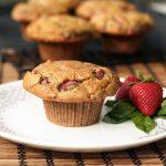 Strawberry Basil Almond Flour Muffins – Gluten-free, Dairy-free, Refined Sugar-free