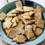 Spicy Chickpea Crackers with Chives – Gluten-free + Vegan