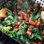 Grilled Sweet Potato and Wilted Kale Salad – Gluten-free + Vegan