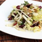 Kohlrabi Slaw with Dried Cranberries and Walnuts – Gluten-free + Vegan