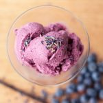 Blueberry Lavender Vanilla Ice Cream – Vegan, Gluten-free, Refined Sugar-free