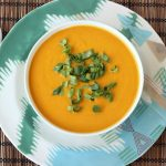 Chilled Carrot Ginger Coconut Soup – Gluten-free + Vegan