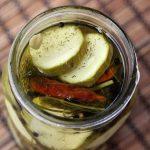 Refrigerator Garlic Dill Pickles – Gluten-free, Vegan + Refined Sugar-free