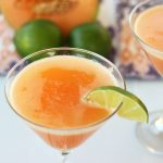 Cantaloupe Mocktini/Martini – Gluten-free, Vegan + Refined Sugar-free