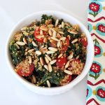 Sprouted Quinoa with Garlicky Kale, Tomatoes and Toasted Pine Nuts – Gluten-free + Vegan