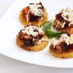 Polenta Rounds with Eggplant Caponata – Gluten-free + Vegan