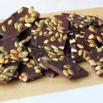 Spicy Dark Chocolate Bark with Toasted Pumpkin Seeds and Sea Salt – Gluten-free + Vegan