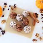 No-Bake Pumpkin Spice Cookie Balls (Gluten-free, Vegan + Sugar-free)