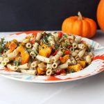 Pasta with Roasted Pumpkin, Peppers and White Beans – Gluten-free + Vegan