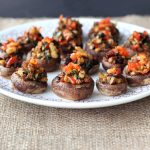Vegan Grain-free Stuffed Mushrooms (Gluten-free + Vegan)