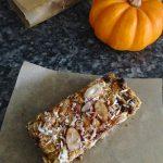 Chewy Pumpkin Spice Granola Bars – Gluten-free + Vegan