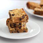 Grain-Free Chocolate Chip Cookie Bars – Gluten-Free + Dairy-Free