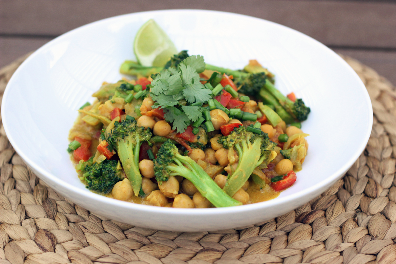 Spring Cleanse Broccoli And Chickpea Curry Gluten Free Vegan