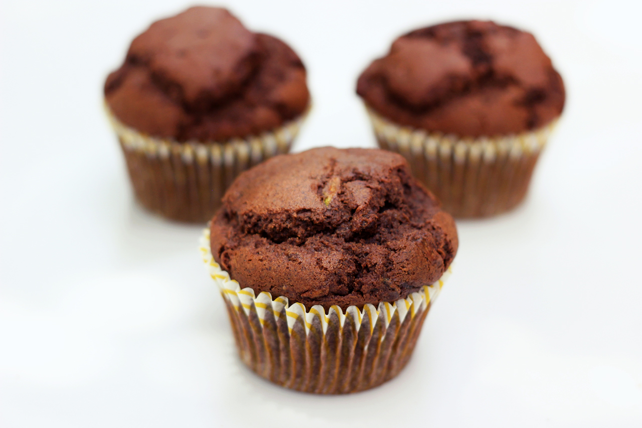 Whole-Grain Chocolate Zucchini Muffins - Gluten-free ...