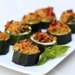 Quinoa Stuffed Zucchini Bites – Gluten-free + Vegan