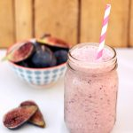 Fresh Fig & Banana Smoothie (Gluten-Free, Vegan & Sugar-free)