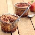 Grain-Free & Vegan Apple Cobbler In A Jar