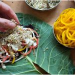 Collard Wrap with Briny Cashew Cream – Gluten-free and Vegan