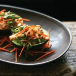 Kimchi Zen Salad in Avocado Shells – Gluten-free and Vegan