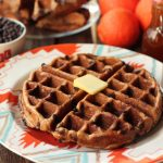 Spiced Orange Chocolate Chip Waffles {Gluten-free + Dairy-free} with Orange Spice Maple Syrup