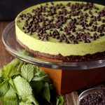 Mint Chocolate Chip Cashew Cream Cake {Gluten-free, Vegan and Refined Sugar-free}