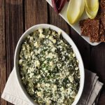 Spinach Artichoke White Bean Dip with Feta {Gluten-free}