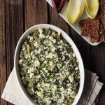 Spinach Artichoke White Bean Dip with Feta {Gluten-free}