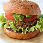 Cauliflower Lentil Veggie Burger with Spicy Turmeric Aioli {Gluten-free + Dairy-free}