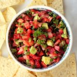 Strawberry Avocado Jalapeño Salsa {Gluten-free and Vegan}