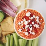 "Roasted Red Pepper and Feta Dip aka ""Htipiti"" (Gluten-free)"