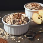Apple Cinnamon Overnight Oats {gluten-free and vegan}