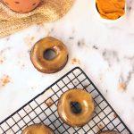 Maple Glazed Pumpkin Spice Coconut Flour Donuts