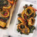 Za'atar Roasted Squash with Crispy Kale and Pomegranate